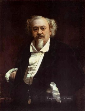 oil Works - Portrait of the Actor Vasily Samoilov Democratic Ivan Kramskoi